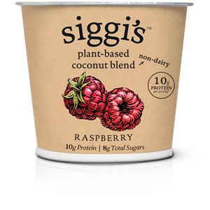 Siggi's Plant-Based Yogurt Alternative Reviews & Info (These has More Protein than Sugar!) Ingredients, ratings, and more. Pictured: Raspberry