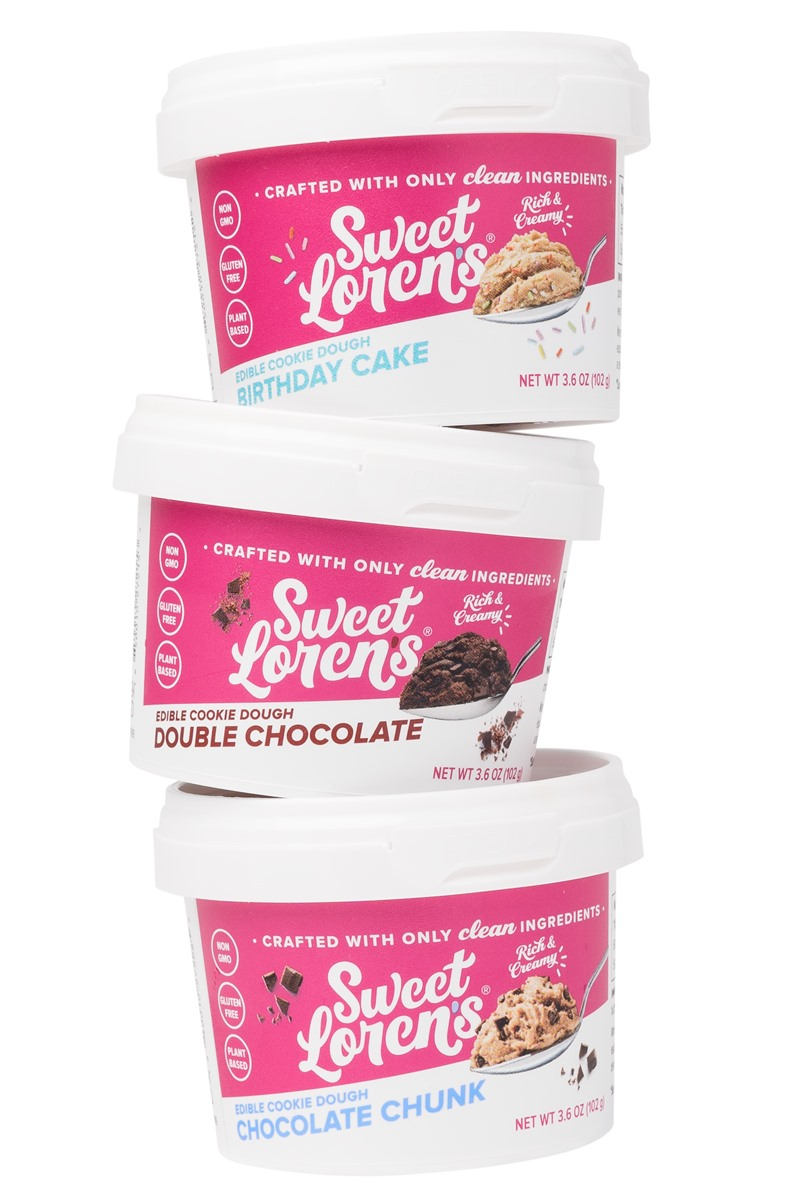 Sweet Loren's Edible Cookie Dough Reviews and Info - Gluten-free, Vegan, and now in mini cup sizes and multi-serve jars