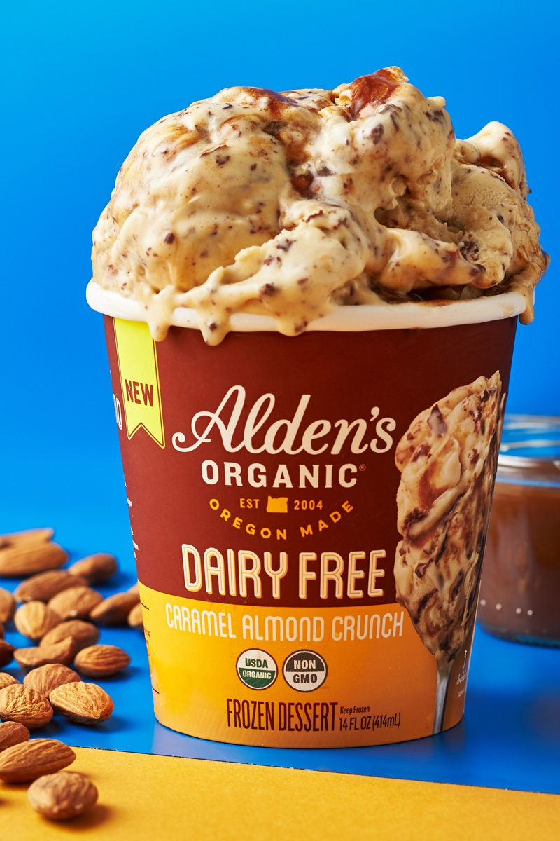 Alden's Dairy-Free Ice Cream Launches in Seven Flavors (2 not pictured!) We have the full details and ratings on these vegan pints.