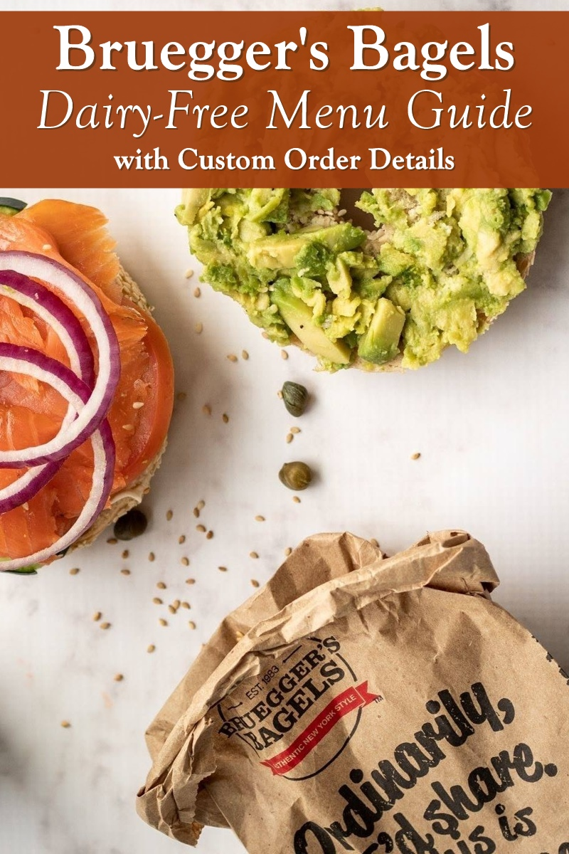 Bruegger's Bagels Dairy-Free Menu Guide with Custom Order Details and Vegan Options