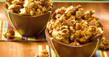 Dairy-Free Caramel Popcorn Clusters Recipe (it packs a Quarterback Crunch!) Gluten-free and Vegan with Soy-free and Nut-free options.