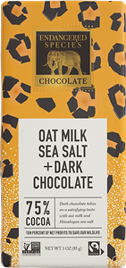 Endangered Species Oat Milk Chocolate Bars Reviews and Info - Now in SIX dairy-free, gluten-free, and vegan varieties!
