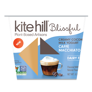 Kite Hill Blissful Creamy Coconut Milk Yogurt Reviews and Information - Dairy-Free, Soy-Free, Gluten-Free & Vegan. Pictured: Caffe Macchiato