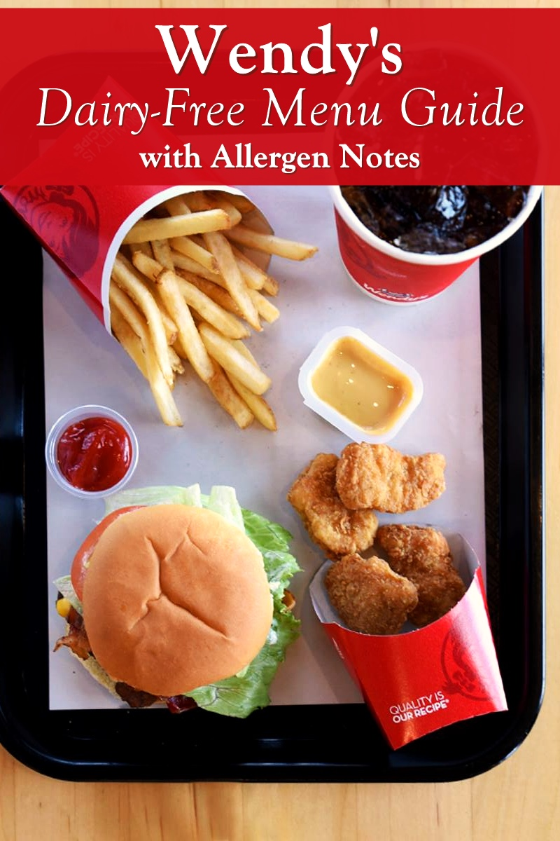 Wendy's Dairy-Free Menu Guide with Allergen Notes