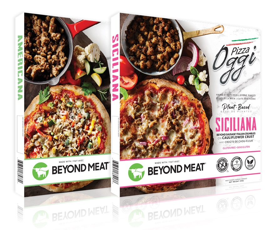 Pizza Oggi Plant-Based Frozen Pizzas made with Vegan Beyond Meat Reviews and Information