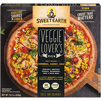 Sweet Earth Vegan Frozen Pizza Reviews and Information - We have ingredients, nutrition facts, ratings and more for this dairy-free, nut-free, soy-free frozen dinner