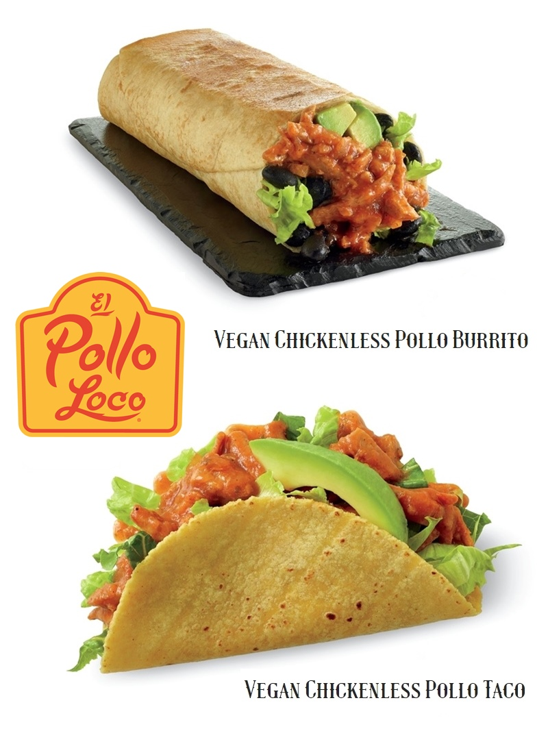 El Pollo Loco launches Vegan Burritos and Tacos with Chickenless Pollo simmered in adobo sauce (certified vegan!)