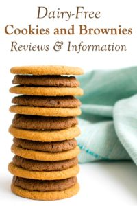 Dairy-Free Cookie and Brownie Product Reviews and Information with Vegan and Gluten-Free Options