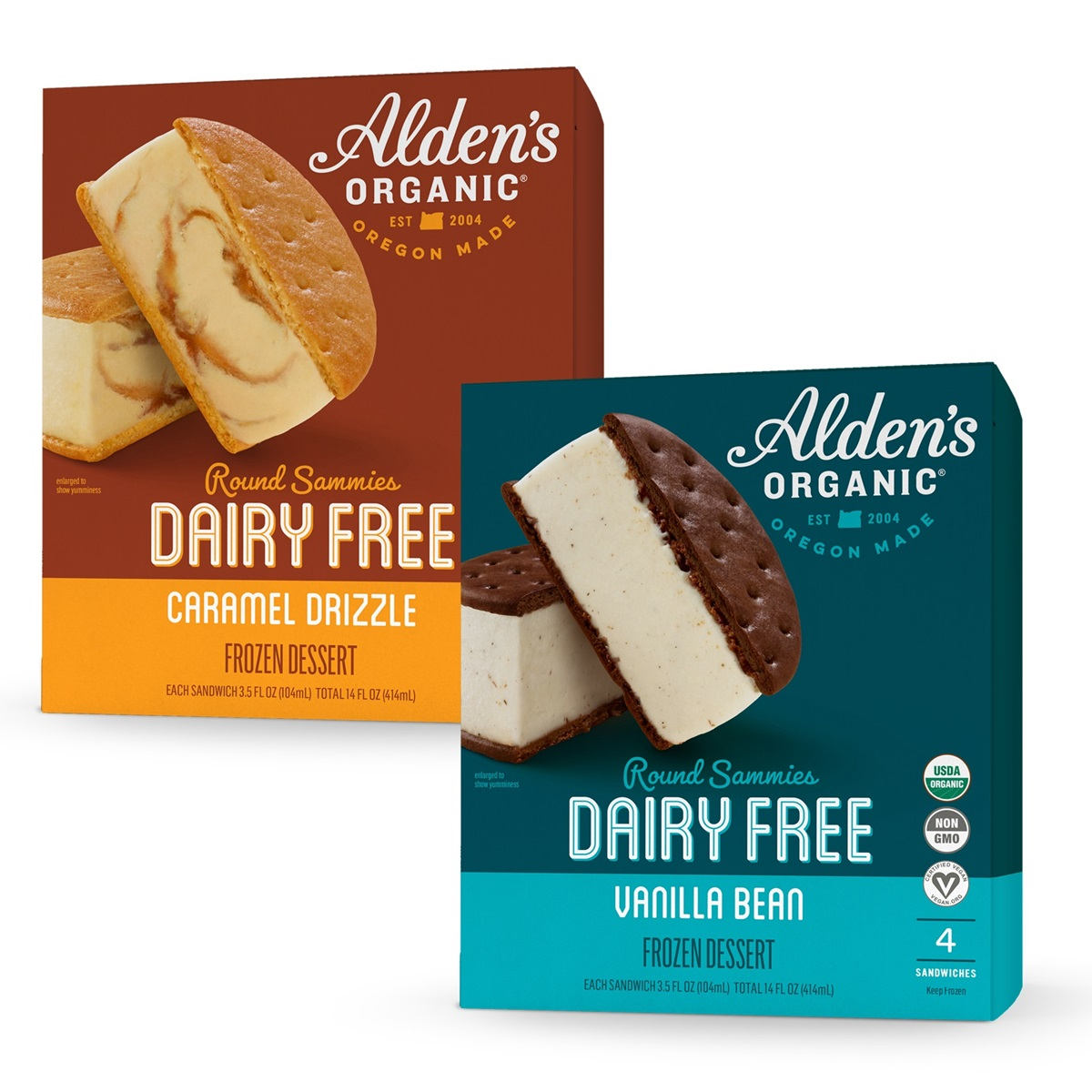 Alden's Organic Dairy-Free Sammies Reviews and Information - Cool Vegan Ice Cream Sandwiches