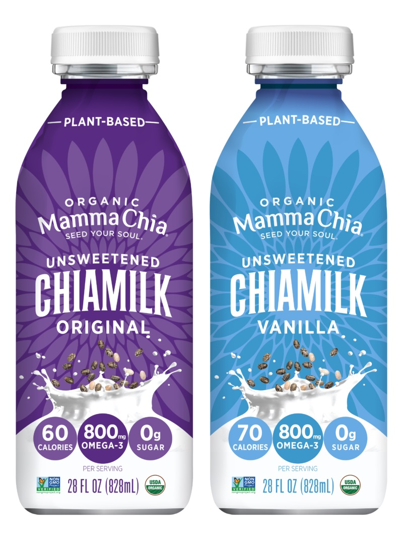 Mamma Chia Chiamilk Reviews and Information (Dairy-Free, Soy-Free and Vegan Milk Beverage in two Unsweetened Varieties) - high in calcium, Omega 3s, MCT, and more.