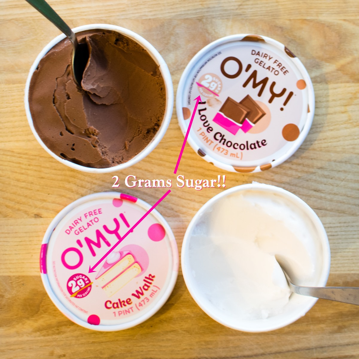O'My Low Sugar Gelato Reviews & Info (Dairy-Free, Vegan, Keto)
