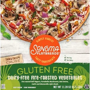 Sonoma Flatbread Gluten-Free Dairy-Free Frozen Pizza Reviews and Information (it's also gluten-free, soy-free, and nut-free!)