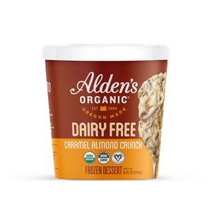 Alden's Dairy-Free Ice Cream Launches in Seven Flavors. We have the full details and ratings on these vegan pints. Pictured: Caramel Almond Crunch