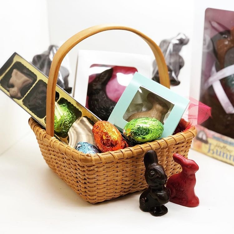 The Dairy-Free Chocolate Easter Bunny and More Round-Up - vegan with gluten-free and allergy-friendly options - including creme-filled eggs and white chocolate treats! PIctured: Divine Treasures Chocolates