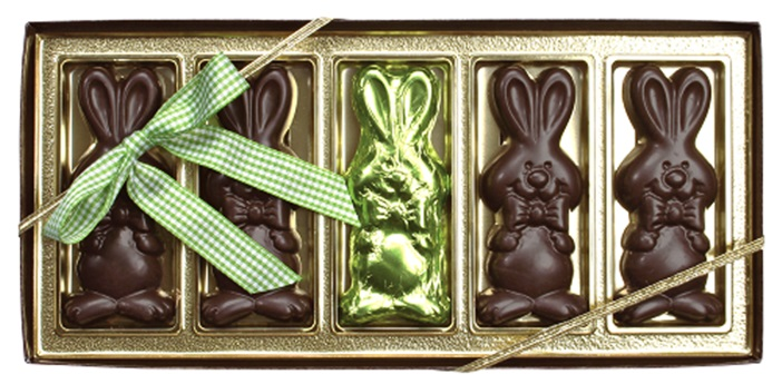 The Dairy-Free Chocolate Easter Bunny and More Round-Up - vegan with gluten-free and allergy-friendly options - including creme-filled eggs and white chocolate treats! Pictured: Vermont Nut Free Dark Chocolate