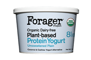 Forager Project Plant-Based Protein Yogurt Reviews and Information (Dairy-free, gluten-free, soy-free, and cultured with live and active probiotics) We have ingredients, availability, and more. Pictured: Plain Unsweetened