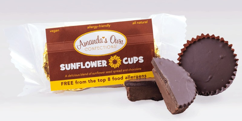Amanda's Own Sunflower Cups - like dairy-free, nut-free peanut butter cups!