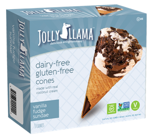 Jolly Llama Cones Reviews and Information: The Dairy-Free Gluten-Free Answer to Drumsticks Ice Cream Cones