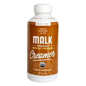 Malk Creamer Reviews and Info - Certified Organic, Dairy-Free, Gluten-Free, Soy-Free, Vegan Creamer that's free of additives and refined sugars. We have all the details ... Pictured: Maple Pecan + Oat