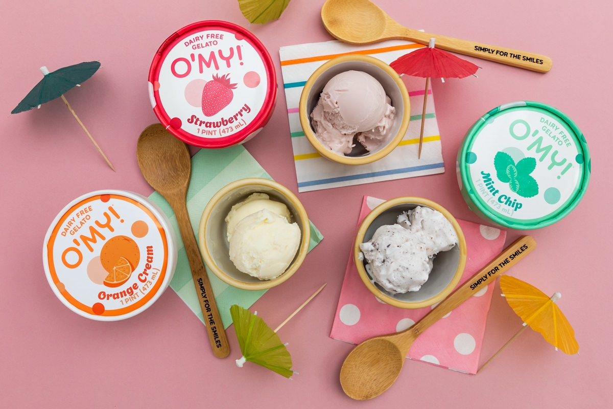 O'My Dairy-Free Gelato Reviews & Information - Vegan, Soy-Free, Pure Ice Cream in several Minimalist, Creamy Pint Flavors. Pictured: All