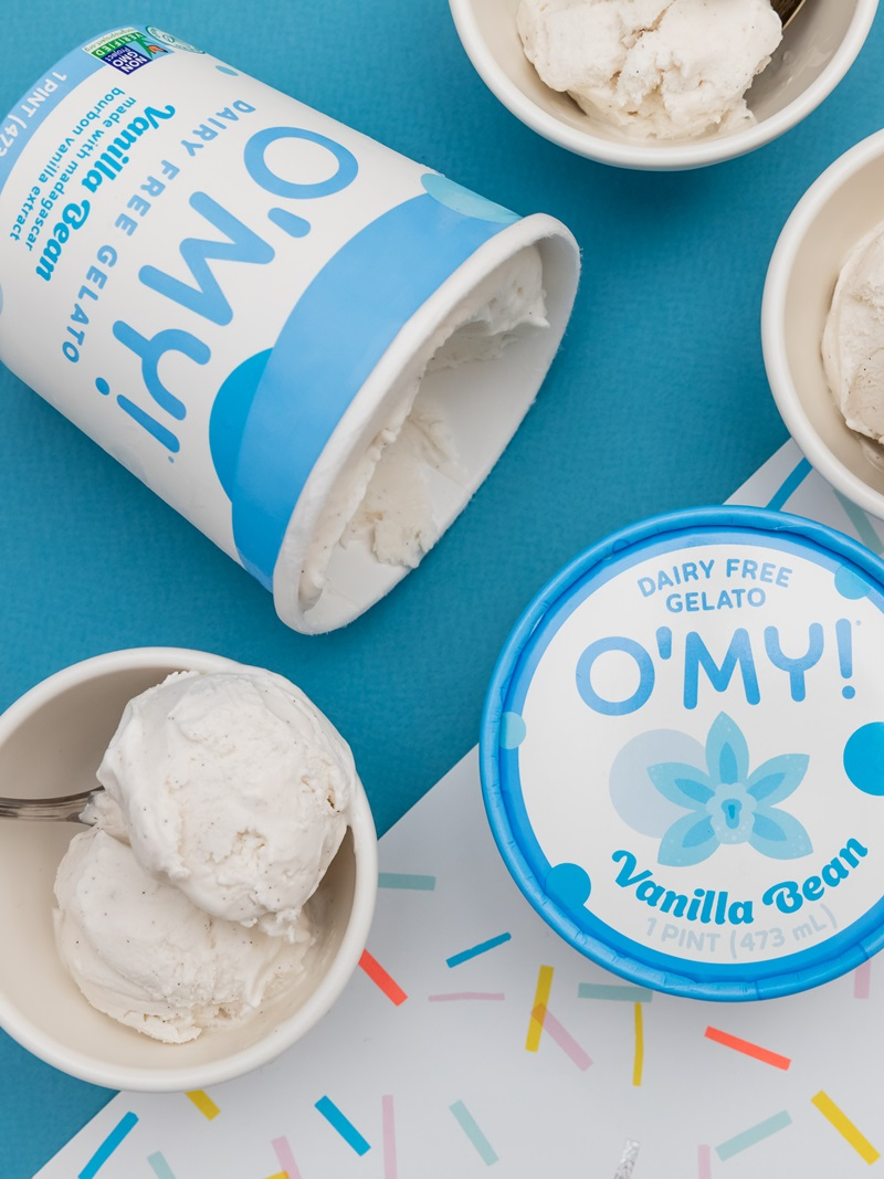 O'My Dairy-Free Gelato Reviews & Information - Vegan, Soy-Free, Pure Ice Cream in several Minimalist, Creamy Pint Flavors. Pictured: Vanilla
