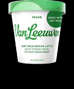 Van Leeuwen Oat Milk Ice Cream Reviews and Info - Vegan Artisan Pint Flavors. Pictured: Mocha Latte