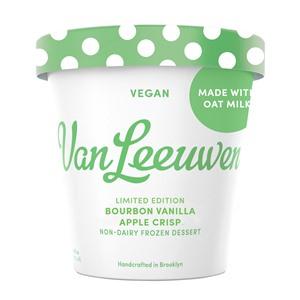 Van Leeuwen Oat Milk Ice Cream Reviews and Info - Vegan Artisan Pint Flavors. Pictured: Apple Crisp