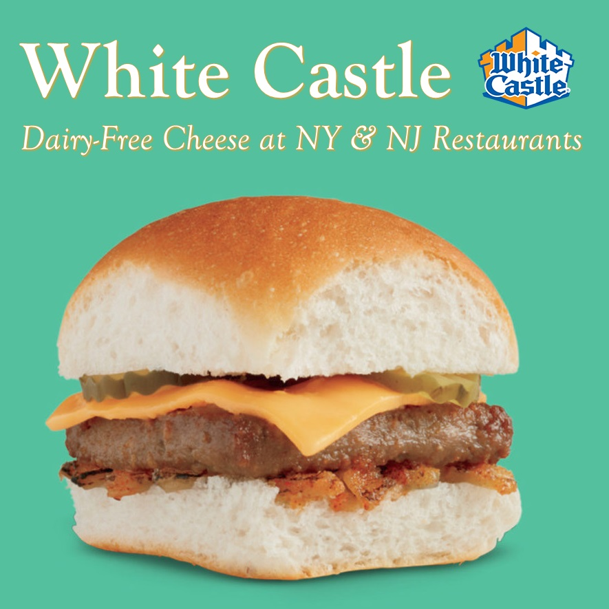 White Castle Dairy-Free Menu Guide with Vegan and Allergen Notes. New: Dairy-Free Cheese and the Plant-Based Impossible Burger.