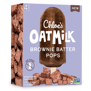 Chloe's Oatmilk Pops Reviews & Info (Dairy-Free, Gluten-Free, and Vegan Ice Cream Bars) Pictured: Brownie Batter