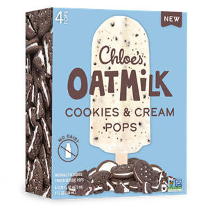 Chloe's Oatmilk Pops Reviews & Info (Dairy-Free, Gluten-Free, and Vegan Ice Cream Bars) Pictured: Cookies & Cream