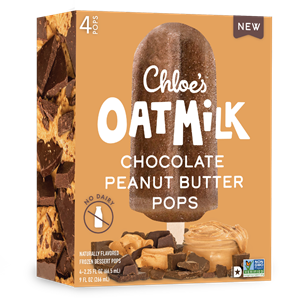 Chloe's Oatmilk Pops Reviews & Info (Dairy-Free, Gluten-Free, and Vegan Ice Cream Bars) Pictured: Chocolate Peanut Butter