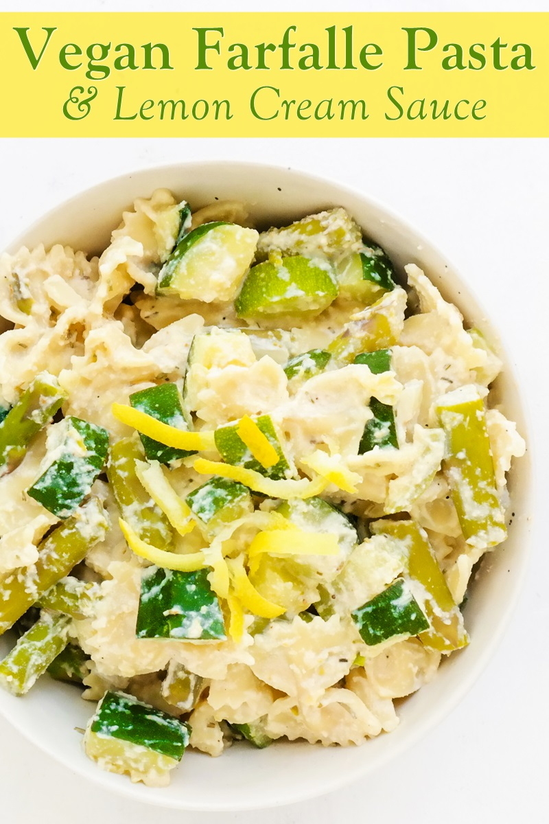 Vegan Pasta with Lemon Cream Sauce Recipe from Plant Powered Health. Also oil-free and gluten-free optional.