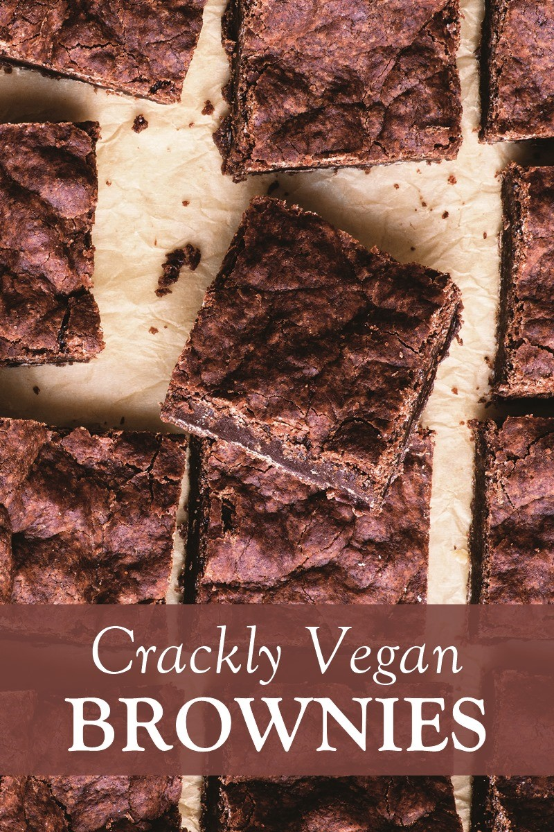 Crackly Vegan Brownies Recipe that's Dairy-Free, Egg-Free, Nut-Free, Soy-Free and made with Melted Chocolate (a sample from Wait, That's Vegan!?)