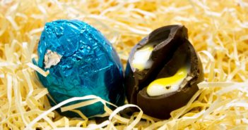 Dairy-Free and Vegan Alternatives to Cadbury Creme Eggs, including chocolate eggs with various cream fillings. US, Canada, UK, Europe, and Australian options! Pictured: Mummy Meagz Chuckie Eggs