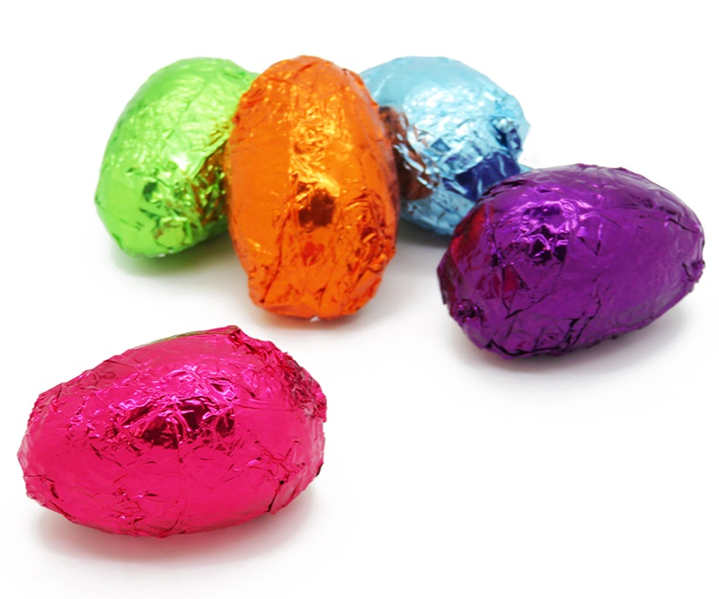 Dairy-Free and Vegan Alternatives to Cadbury Creme Eggs, including chocolate eggs with various cream fillings. US, Canada, UK, Europe, and Australian options! Pictured: Divine Treasures Cream Eggs