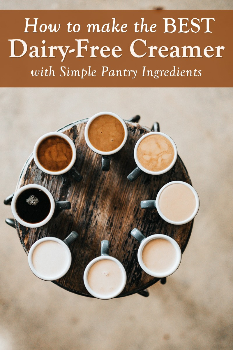 How to Make the Best Dairy-Free Creamers with Pantry Ingredients - Tips, Best Bases, and Recipes (all plant-based!)