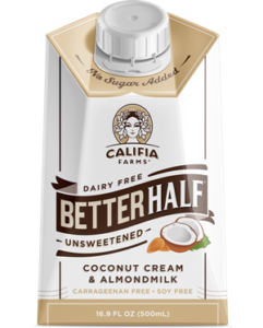 Califia Farms Better Half - Dairy-Free Half & Half Alternative - Reviews and Info (made with Almond Milk and Coconut Cream) - vegan and gluten-free