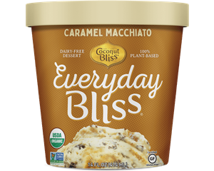 Everyday Bliss Ice Cream - A Decadent Dairy-Free Line by Coconut Bliss - lower calorie, lower price! Ingredients, and more details here. Pictured: Caramel Macchiato