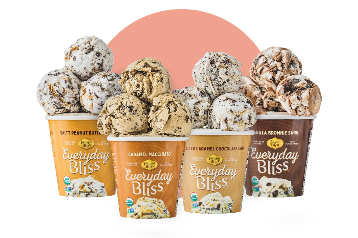 Everyday Bliss Ice Cream - A Decadent Dairy-Free Line by Coconut Bliss - lower calorie, lower price! Ingredients, and more details here. Pictured: All New