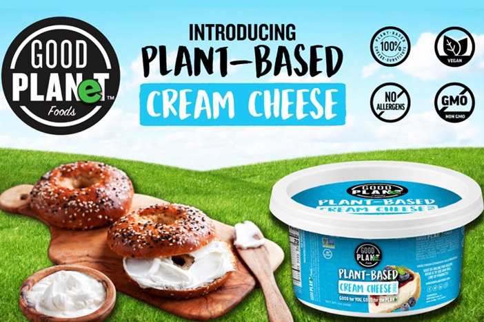 Good Planet Plant-Based Cream Cheese is a Dairy-Free, Soy-Free Alternative