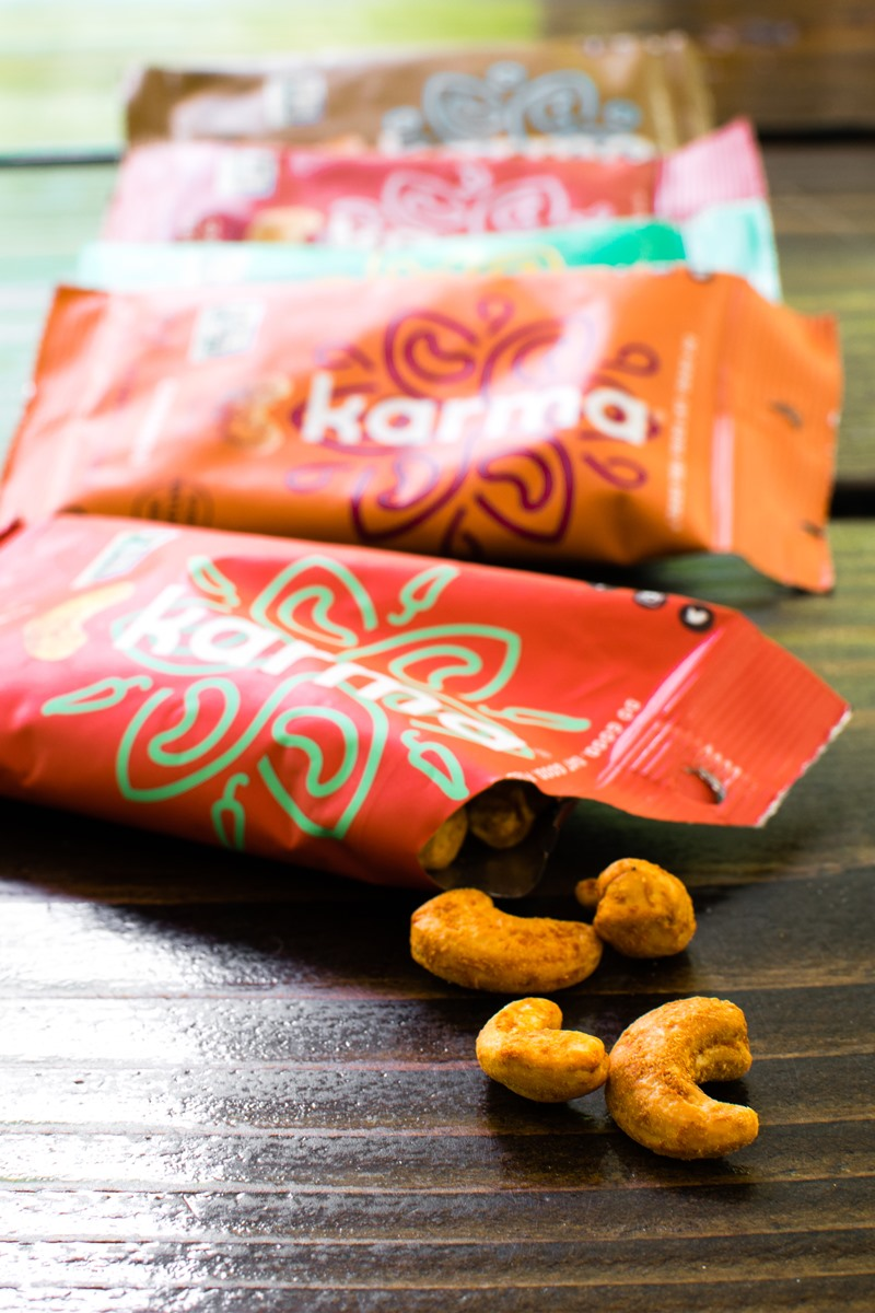 Karma Nuts Wrapped and Roasted Cashews Reviews and Info (Dairy-Free, Oil-Free, Gluten-Free, Vegan). Ingredients, availability, and more.