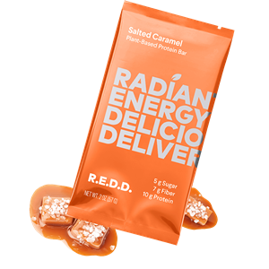 R.E.D.D. Protein Bars Reviews and Information - Dairy-Free, Plant-Based, Low Sugar. We have ingredients, availability, and more .... Pictured: Salted Caramel