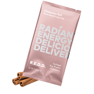 R.E.D.D. Protein Bars Reviews and Information - Dairy-Free, Plant-Based, Low Sugar. We have ingredients, availability, and more .... Pictured: Cinnamon Roll