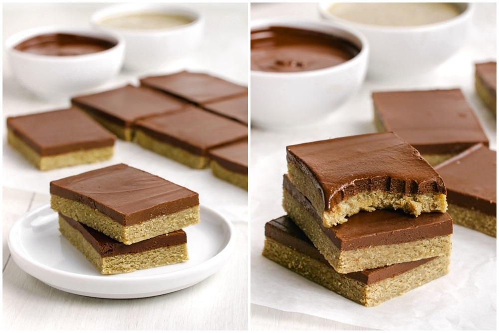 Fun Dairy-Free Snacks you can Make with Kids. Pictured: Paleo Peanut Butter Bars