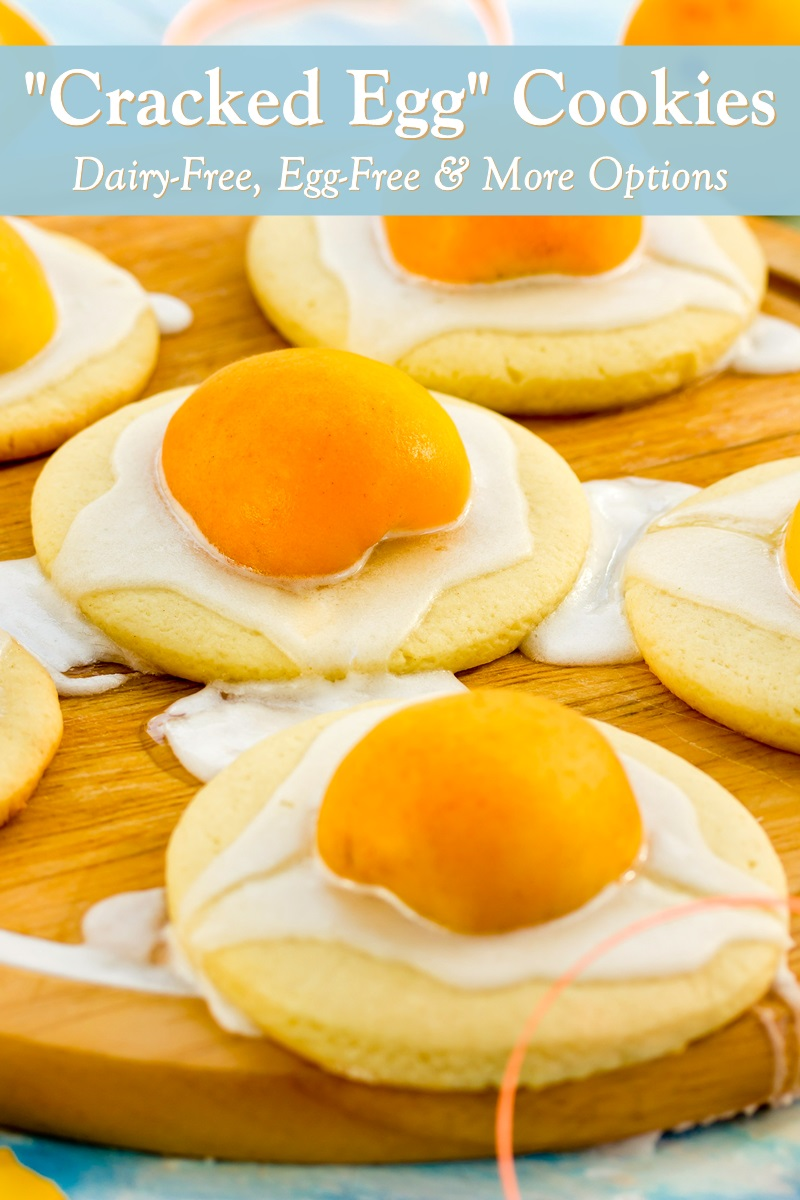 Vegan Cracked Egg Cookies Recipe for Easter or parties. Easy and dairy-free with allergy-friendly and gluten-free options.