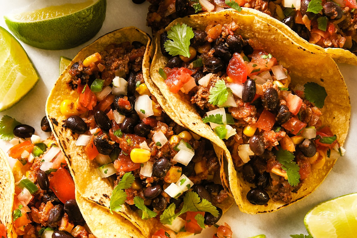 Mexican Mushroom Beef Tacos Dairy Free Gluten Free Version