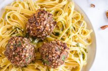 Gluten-Free, Dairy-Free Chicken Pecan Meatballs Recipe with Crunchy Coating - also grain-free, soy-free, and paleo-friendly. No cheese, no milk, no flour, no bread