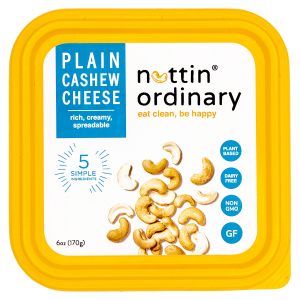 Nuttin Ordinary Cashew Cheese Reviews and Information - Dairy-Free, Gluten-Free, Oil-Free, All Natural (also paleo and keto friendly). Pictured: Plain