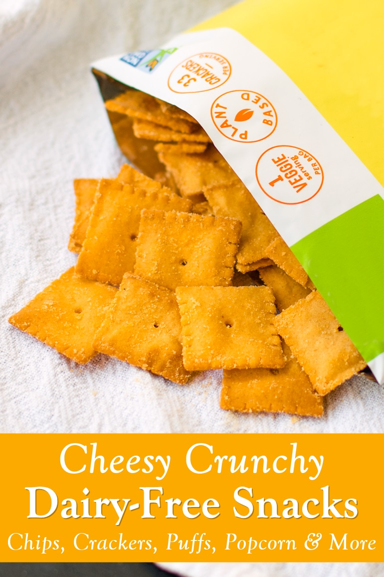 The Best Dairy-Free Cheesy Crunchy Snacks - a deliciously convenient round up with vegan, gluten-free, and more!