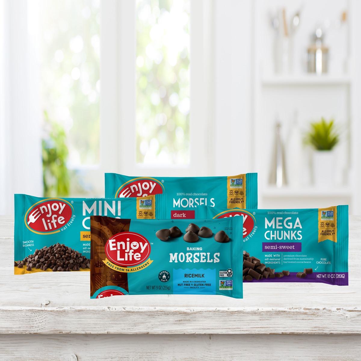 Enjoy Life Chocolate Chips Now in Dark, Semi-Sweet, and Rich Ricemilk - Top Allergen-Free, Vegan, and Gluten-Free!